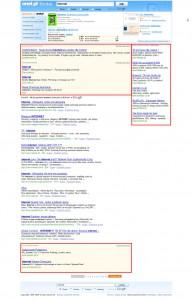 Przykład linków sponsorowanych na Onet.pl
